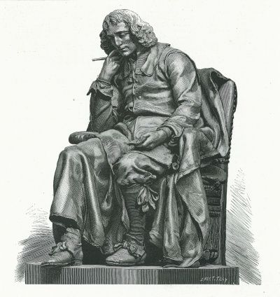 Spinoza, onthulling standbeeld op 14-9-1880